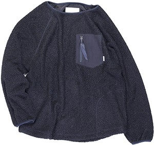 Kelen Men's / ケレン |【SALE!!!】Zip Pocket Boa Pullover / ボアプルオーバー