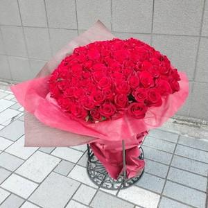 赤バラ100本の花束(50~60cm)