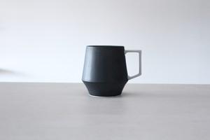 陶芸作家【宮崎雄太 器とデザイン】Mugcup マグカップ (Blk×Wht)