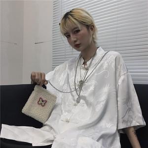 取り寄せ商品:チャイナデザイン半袖シャツ