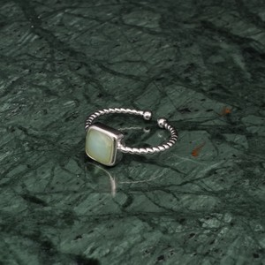 SINGLE MINI STONE RING SILVER 016