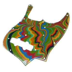 VARIOUS MARBLEIZED PICK GUARD SERIES - 60s J-type  Only One Design - ベース用マーブルピックガード ja3-1