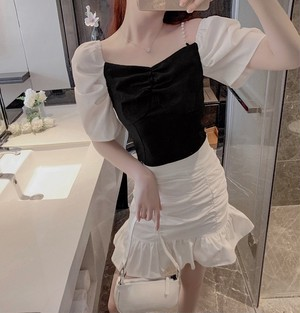 pearl shoulder dress