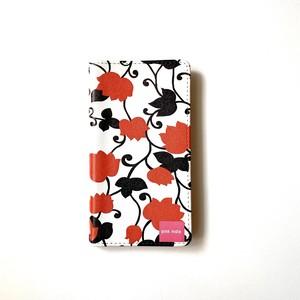 北欧デザイン 手帳型スマートフォンケース [ベルトなし] | iPhone6/7/8/SE(第二世代)兼用 |  matthew red