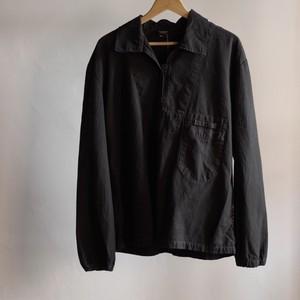 Czech Pullover Work Shirt #2 / HBT / NOS / チェコ軍 後染め プルオーバー シャツ / ヘリンボーンツイル
