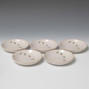 木の葉紋小皿 5枚組