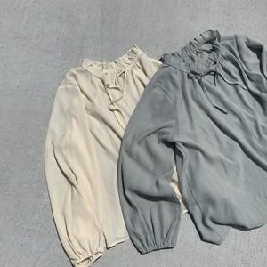 [即納]sheer minifrill blouse
