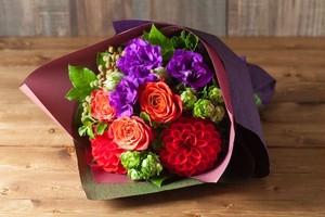 【プレゼントにぴったり】花束/オレンジ&レッド系