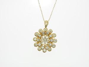【K18YG】2.170ct UP ダイヤモンドネックレス