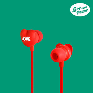 Funky Earphone - Love and Peace