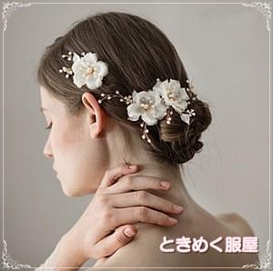 【取寄】ヘッドドレス ヘアクリップ  ヘアアクセサリー 髪飾り  結婚式 ブライダル ウエディング ブライドヘア 花嫁  髪型