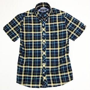 CHECK 半袖ボタンダウンシャツ