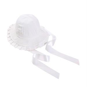 コットンフリルリボンハット(White)