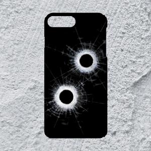 【iPhone8plus/7plus対応】弾痕ハードケース