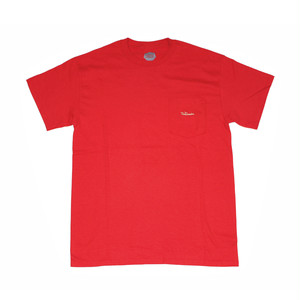 FLOWGRESSIVE FG TAG POCKET TEE BY ELI MORGAN GESNER RED