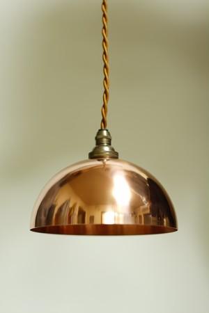 銅シェードペンダントライト#2