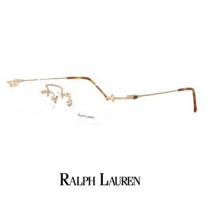 ラルフローレン メガネ rl713-gm 48mm Sサイズ 眼鏡 ralph lauren 軽量 メタル ツーポイント オーバル