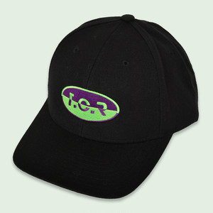 T.C.R CAPSULE EMBROIDERY CAP - BLACK/GREEN/PURPLE