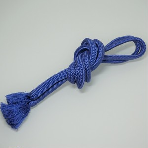 帯締め 正絹 平組 手組み 青紫 リユース 007