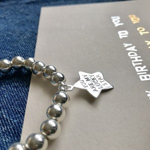 LUCKY STAR silver925 8mm beads / ストレッチブレスレット