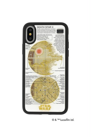 FLASH DEATH STAR 基板アート iPhoneXケース  白【東京回路線図ピンズをプレゼント】