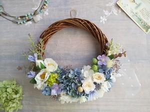 Lune Bonheur<agate>*ハーフムーンリース*プリザーブドフラワー*お花*ギフト*結婚祝い*新築祝い*お誕生日祝い*ウェディング*母の日