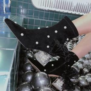 dot tulle design shoes