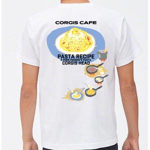 No.2020-welshcorgi-0028  : 5.6oz 2020 パスタレシピTシャツ 貧乏人のパスタ