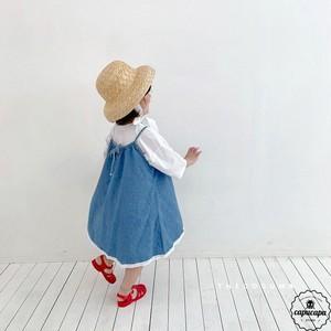 «予約» denim skirt デニムジャンパースカート