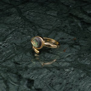 SINGLE STONE OPEN RING GOLD 006