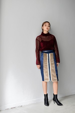 koll / fake fur skirt
