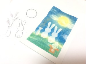 「うさぎのお月見」型紙&描き方アクセス権