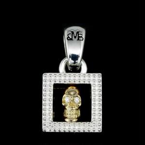 フレームド K18 イエロー ゴールド スカル w/ ホワイト ダイヤ アイズ:MIC&Co. ミック アンド コー