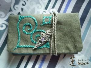 オリジナルアイヌ刺繍カードケース*ハート