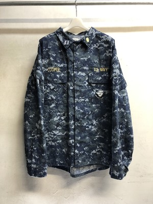 """Military"" digital camouflage jacket -blue-"