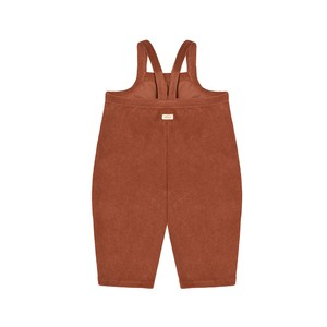 【3-4Y LAST1】organiczoo(オーガニックズー) / Deep Earth Terry Cropped Dungarees