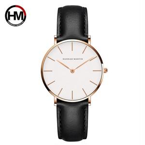 ジャパンクォーツシンプルな女性のファッション時計ホワイトレザーストラップレディース腕時計ブランド防水腕時計36mmCB36-FH
