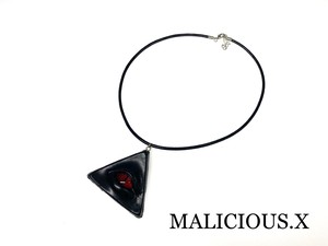 reptiles(D) eye necklace(black) / red