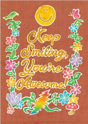 ★Print★  Keep Smiling You're Awesome Poster