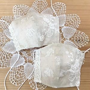 20s-046   フラワー刺繍マスク