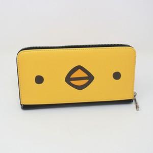 <受注生産品>長財布(ひよこさん顔・いっぱい)