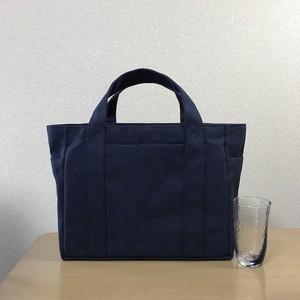 (受注生産)「ポケットトート」通勤トート「ネイビー」倉敷帆布8号
