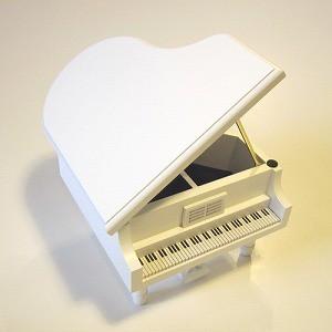 18弁 木製ピアノオルゴール ホワイト【0400945500250】