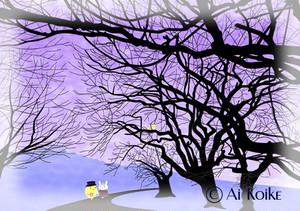 『冷たい風を感じて歩きます』 ~グラフィックアートTiki&Puffyシリーズ~ 【清春旅と空想の美術館】