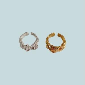 Crumpled design ring