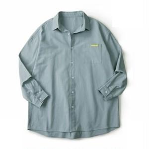 ユニセックスシンプル長袖シャツ。オーバーサイズ6色