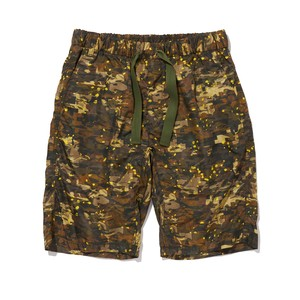 LAYRED CAMO PRINTED EASY SHORT PANTS -KHAKI