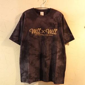 【一点物】Tiedye WillxWill logo T-shirts Lサイズ
