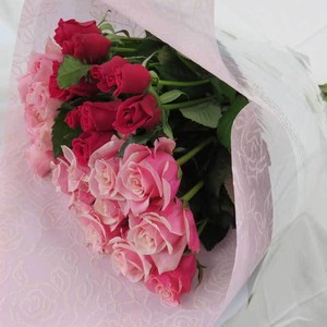 バラの花束(ピンク)30本