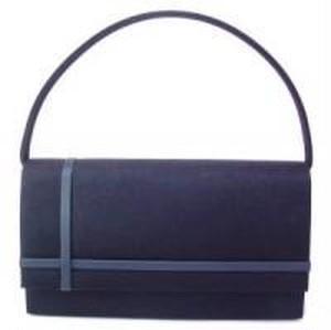 ブラックフォーマルバッグ1本手帯サテン